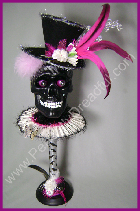 perfectly dreadful halloween shabby Chic vintage skull