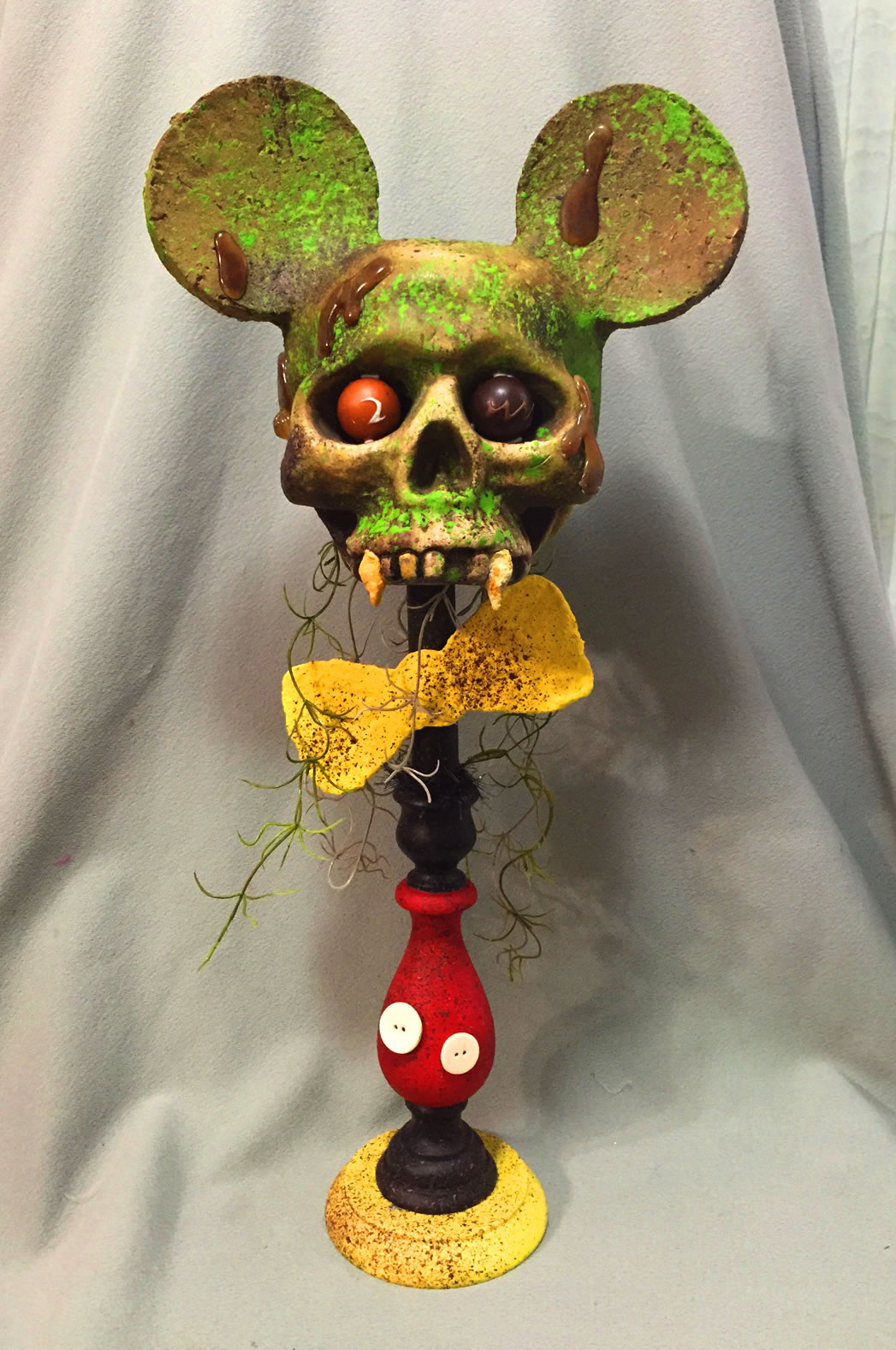 perfectly dreadful halloween shabby Chic vintage mickey mouse zombie